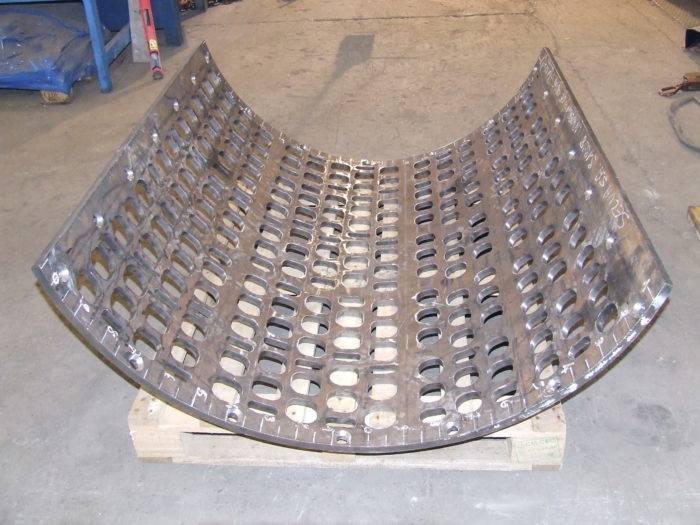 Fabricant grille de crible Selva Dursteel 410 Recyclage du bois