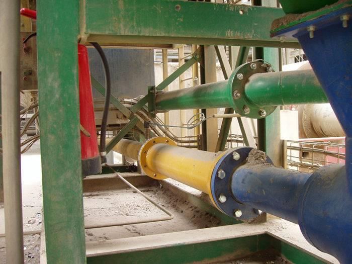 tuyaux anti-abrasion cimenterie