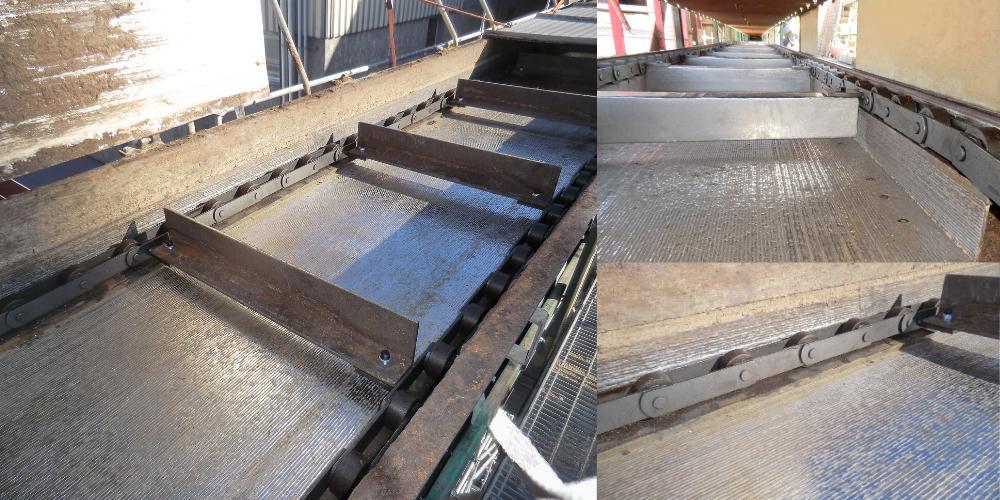 Exemple d'une solution d'amélioration Produr sur un convoyeur à écorce dans une papeterie