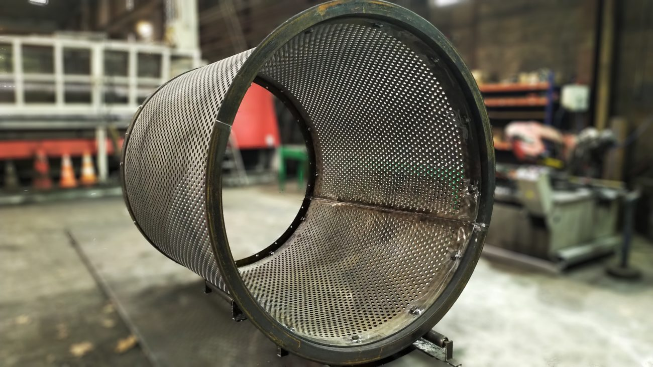 Fabrication d'une grille de trommel en Dursteel 410