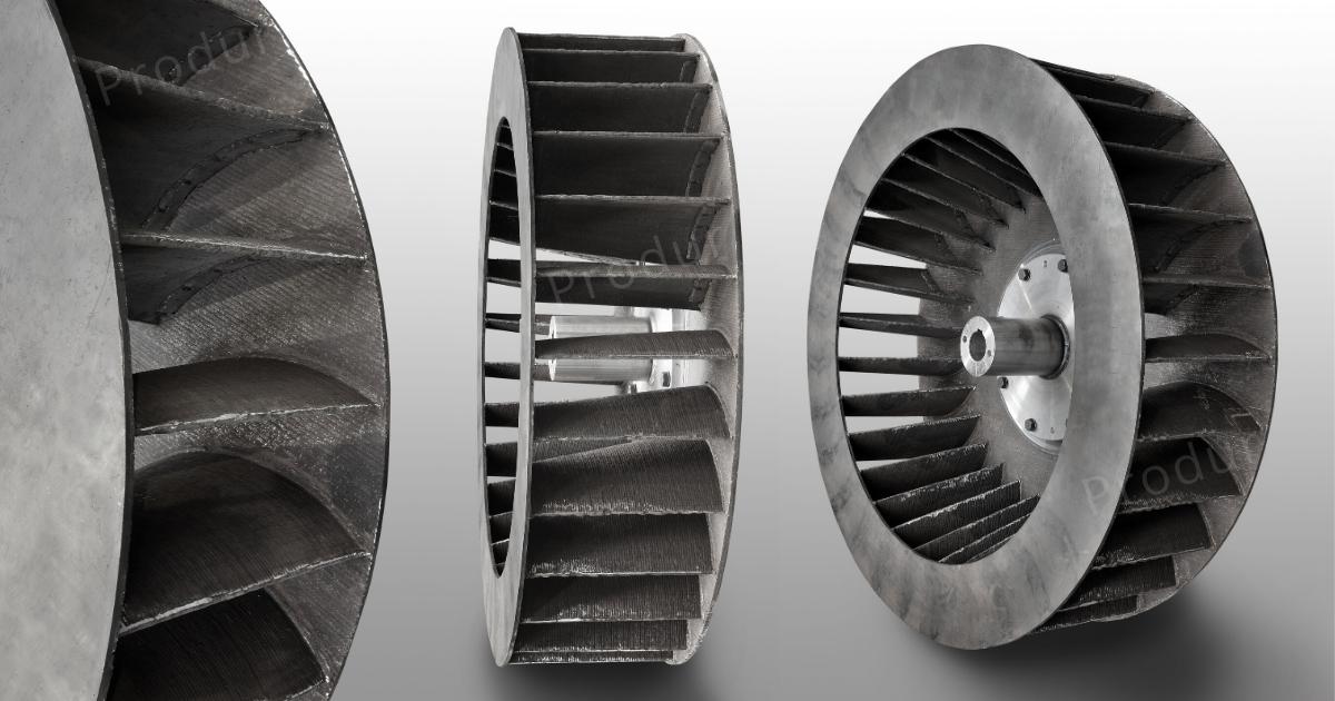 Turbine de ventilateur en tôle rechargée Duraplate D31