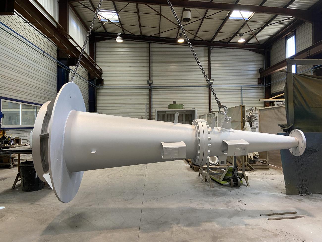 Ensemble cône & tête de cyclone pour notre client dans le secteur de la chimie
